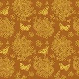 Bezszwowy tło z kwiecistego i motyli wzorem również zwrócić corel ilustracji wektora ilustracji