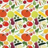 Bezszwowy tło z różnorodność warzywami Fotografia Royalty Free