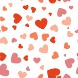 Bezszwowy tło z różnymi barwionymi confetti sercami dla v Obraz Royalty Free