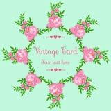 Bezszwowy tło z różowymi akwarela kwiatami Zdjęcia Royalty Free