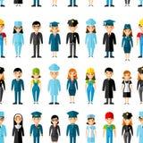 Bezszwowy tło z setem zawód ikon ludzie Zdjęcia Royalty Free
