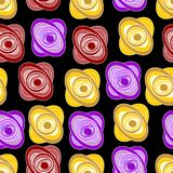 Bezszwowy tło z stylizowanymi różami Obraz Stock