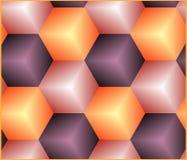 Bezszwowy tło z sześcianami Fotografia Stock