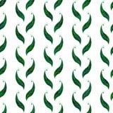 Bezszwowy tło z zielonymi liśćmi Zdjęcia Royalty Free