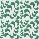 Bezszwowy tło zieleni płatki Obraz Royalty Free