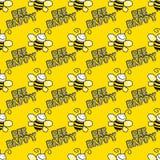 bezszwowy tła bumblebee Obrazy Royalty Free