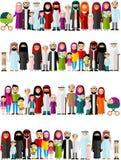 Bezszwowy tło arabskie rodziny Fotografia Stock