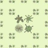 Bezszwowy tło bakterie Zdjęcia Royalty Free