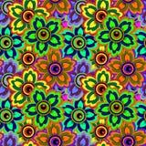 Bezszwowy tło kolorowi kwiaty Fotografia Royalty Free