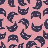 Bezszwowy tło: kot Obraz Royalty Free