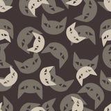 Bezszwowy tło: kot Obrazy Royalty Free