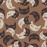 Bezszwowy tło: kot Obraz Stock