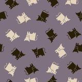 Bezszwowy tło: krowa Obrazy Royalty Free