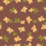 Bezszwowy tło: krowa Obraz Royalty Free