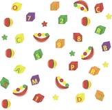 Bezszwowy tło od children zabawek Zdjęcia Stock