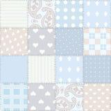 bezszwowy tło patchwork Fotografia Stock
