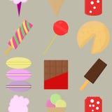 Bezszwowy tło wzór cukierki dla dzieci Fotografia Royalty Free