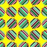 Bezszwowy tło z abstrakcjonistycznym geometrycznym wzorem Abstrakcjonistyczna cyfrowa usterki grafika Zdjęcie Royalty Free