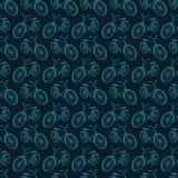 Bezszwowy tło z bicyklami Obraz Stock