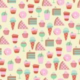 Bezszwowy tło z cukierkami i cukierkami Obraz Stock