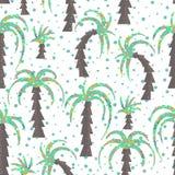 Bezszwowy tło z drzewkami palmowymi Obraz Stock