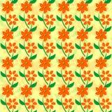 Bezszwowy tło z menchia kwiatami i zielonym sh Zdjęcie Stock
