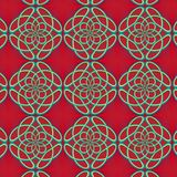 Bezszwowy tło z monogramami Obrazy Royalty Free