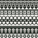 Bezszwowy tło z Polinezyjskimi monochromatycznymi wzorami ilustracja wektor