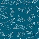 Bezszwowy tło z samolotami Zdjęcie Royalty Free