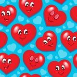 Bezszwowy tło z sercami 7 Fotografia Royalty Free