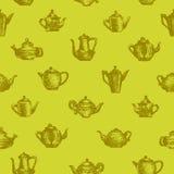 Teapots bezszwowy tło Fotografia Stock