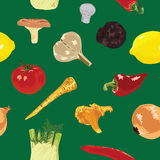 Bezszwowy tło z warzywami Fotografia Stock