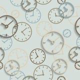 Bezszwowy tło zegarek tarcze royalty ilustracja