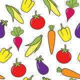 bezszwowy tła warzywo Obrazy Royalty Free