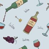 bezszwowy tła wino Royalty Ilustracja