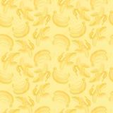 Bezszwowy tapeta wzór z bananami graweruje rysować Owoc Obraz Stock