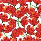 Abstrakcjonistyczny kwiatu wzór Obrazy Royalty Free