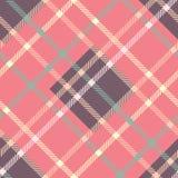 Bezszwowy tartanu wektoru wzór pasiasty szkocka krata wzór Fotografia Royalty Free
