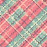 Bezszwowy tartanu wektoru wzór pasiasty szkocka krata wzór Fotografia Stock
