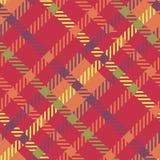 Bezszwowy tartanu wektoru wzór pasiasty szkocka krata wzór Czerwony kolor Obrazy Royalty Free