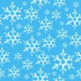 Bezszwowy tekstura wzoru wielobok wskazywał płatka śniegu lód na ligh ilustracja wektor