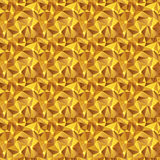 Bezszwowy tekstury złota trójbok Zdjęcie Stock