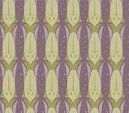 Bezszwowy Tessellation wzór kałamarnicy i ryba wektor Obrazy Stock