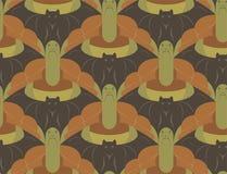 Bezszwowy Tessellation wzór z żółwiami i nietoperzami Wektorowymi Zdjęcie Royalty Free