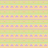Bezszwowy Tileable Wektorowy tło w Pastelowym Plemiennym stylu ilustracji