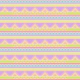 Bezszwowy Tileable Wektorowy tło w Pastelowym Plemiennym stylu royalty ilustracja