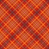 Bezszwowy tkanina czerwony szkocki sprawdzać wzór Obrazy Stock