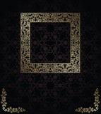 Bezszwowy tło z rocznik ramą Obrazy Royalty Free