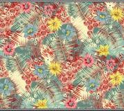 Bezszwowy topiczny kwiatu liścia tło ilustracji