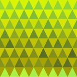 Bezszwowy trójboka koloru żółtego i zieleni wzór Fotografia Stock